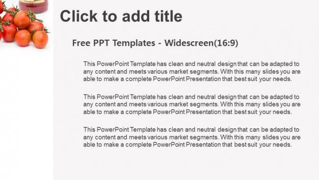 Diapositivas plantilla powerpointTomates frescos de uva