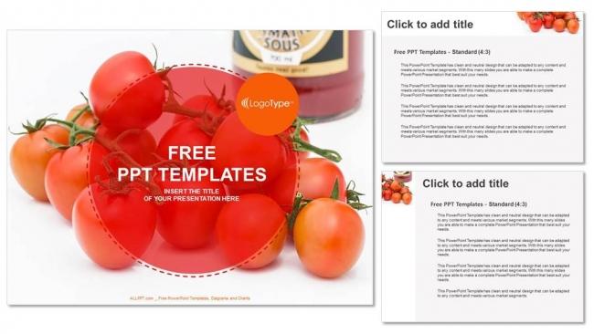 Presentaciones plantilla powerpointTomates frescos de uva