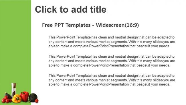 Descargar Presentaciones plantillas powerpointVerduras frescas