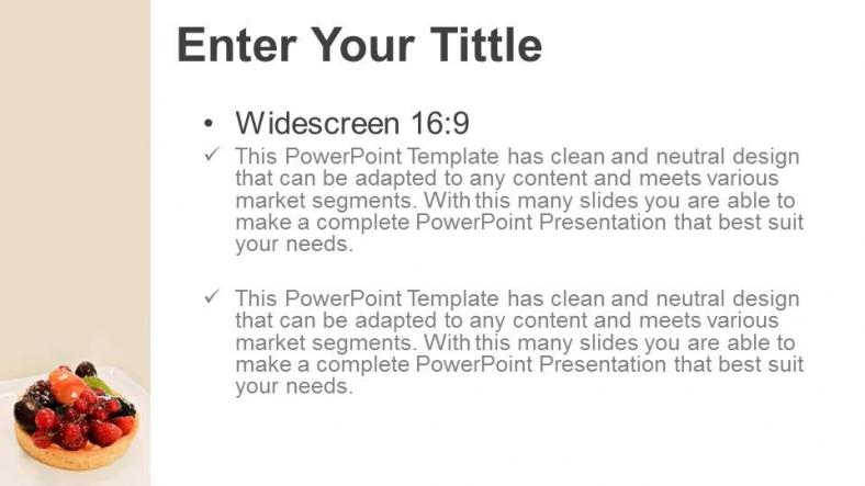 Powerpoint para presentacionesTartas de frutas