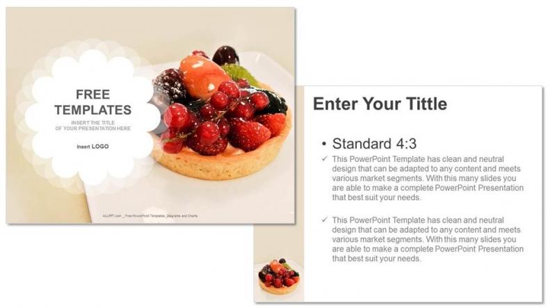 Diapositivas plantilla powerpointTartas de frutas
