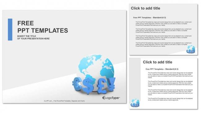 Presentaciones plantilla powerpointMonedas globales