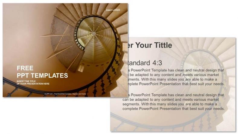 Presentaciones plantilla powerpointEspiral de Oro