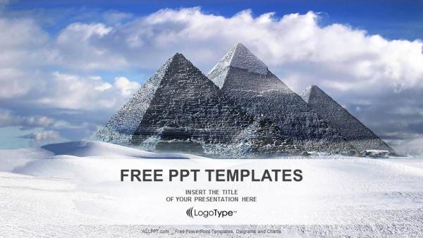 Presentaciones plantilla powerpointGrandes pirámides en el valle de Giza