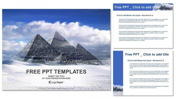 Diapositivas plantilla powerpointGrandes pirámides en el valle de Giza