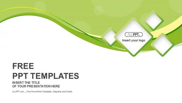 Descargar Presentaciones plantillas powerpointFondo verde y cuadrados