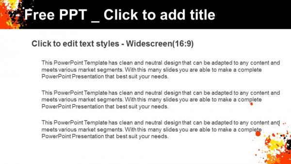 Diapositivas plantilla powerpointCírculo de grunge con salpicaduras de tinta CMYK