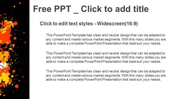 Powerpoint para presentacionesCírculo de grunge con salpicaduras de tinta CMYK