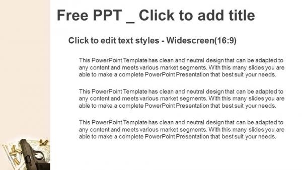 Descargar Presentaciones plantillas powerpointArma y grupo de balas