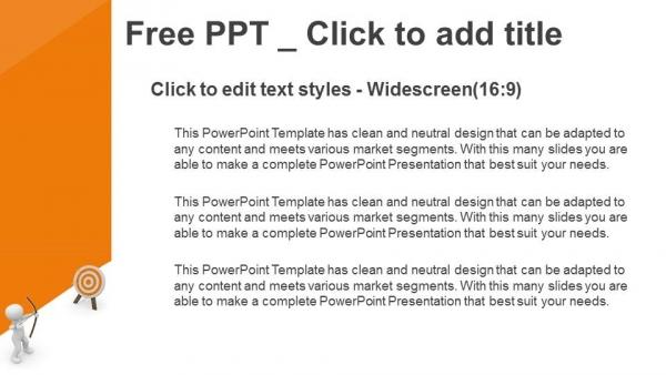 Presentaciones plantilla powerpointEl tipo que golpea el blanco con su arco y flecha