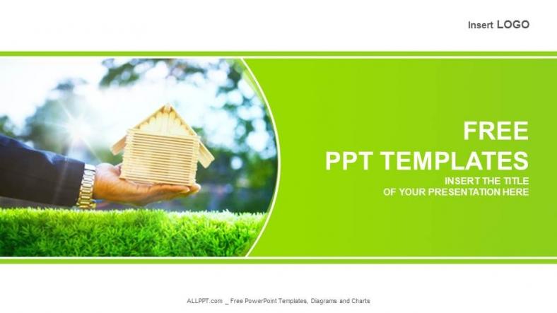 Diapositivas plantilla powerpointHand And Wood House Bienes Raices