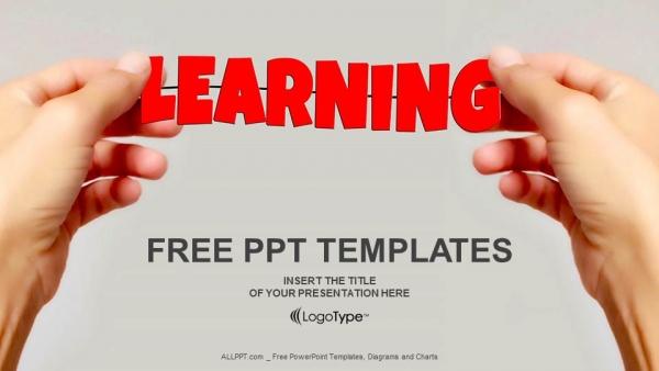 Diapositivas plantilla powerpointAprendizaje de manos y palabras
