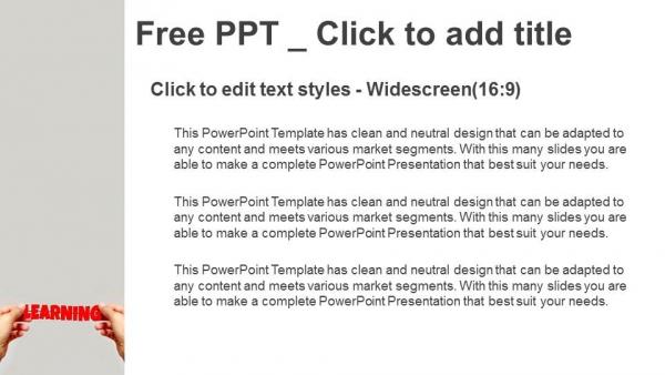 Descargar Presentaciones plantillas powerpointAprendizaje de manos y palabras