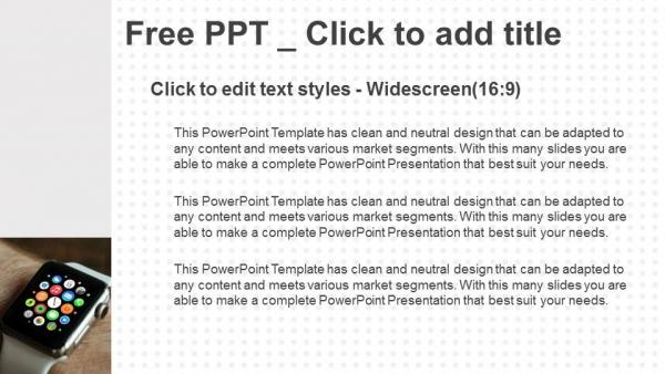 Descargar Presentaciones plantillas powerpointElegante reloj de pulsera que se lleva a mano