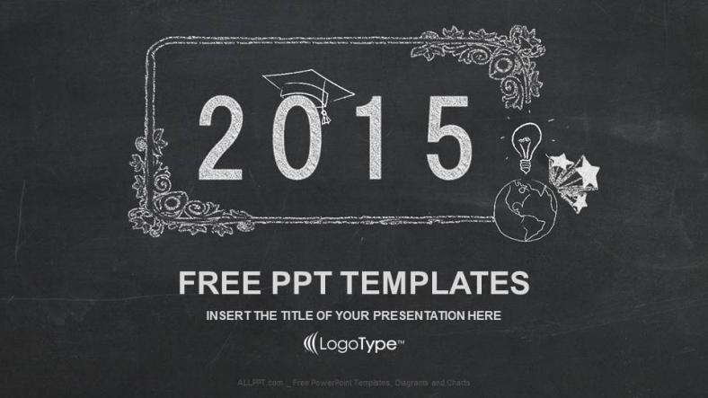Presentaciones plantilla powerpointFeliz Año Nuevo en Pizarra