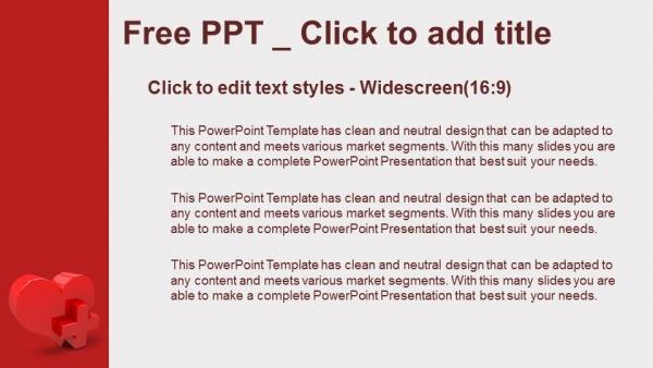 Descargar Presentaciones plantillas powerpointCorazón con signo