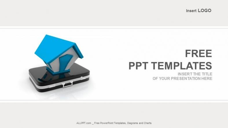 Diapositivas plantilla powerpointHome On Suitcase Rea Estate