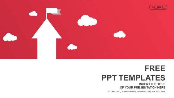 Diapositivas plantilla powerpointFlechas en forma de casa