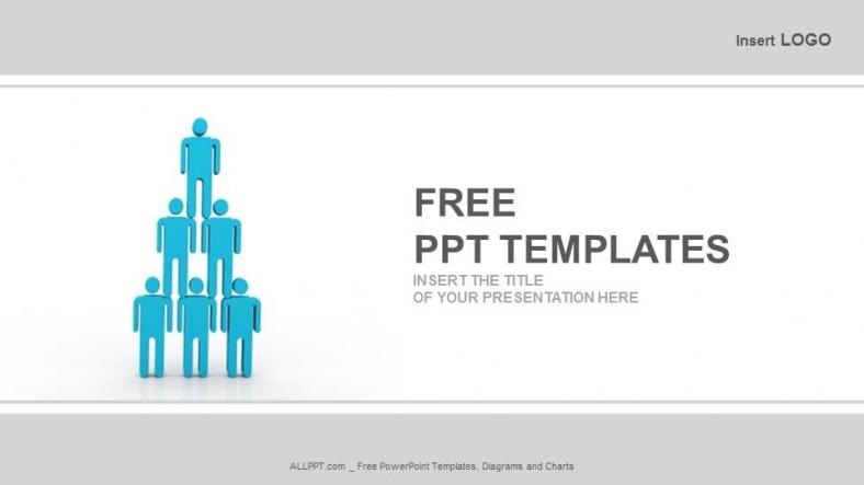 Presentaciones plantilla powerpointPirámide Humana