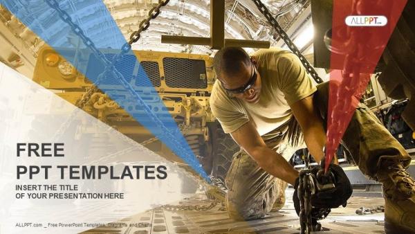 Diapositivas plantilla powerpointHumvee y soldado