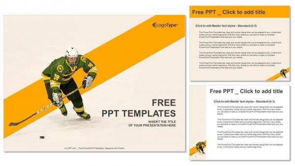 Powerpoint para presentacionesJugador de hockey sobre hielo