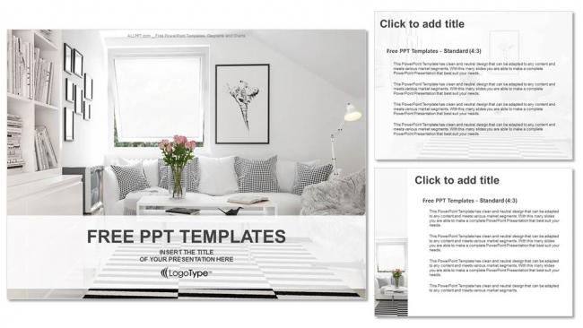 Powerpoint para presentacionesSala de estar de diseño de interiores