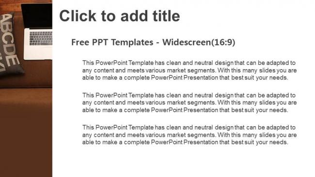 Descargar Presentaciones plantillas powerpointInterior detallado con ordenador portátil