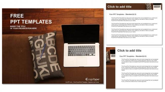 Powerpoint para presentacionesInterior detallado con ordenador portátil