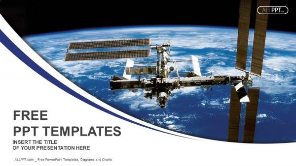 Powerpoint para presentacionesEstación Espacial Internacional en órbita alrededor de la Tierra