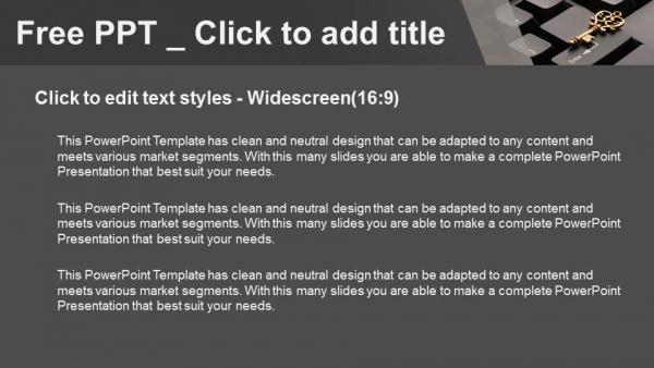 Diapositivas plantilla powerpointTecla en el teclado