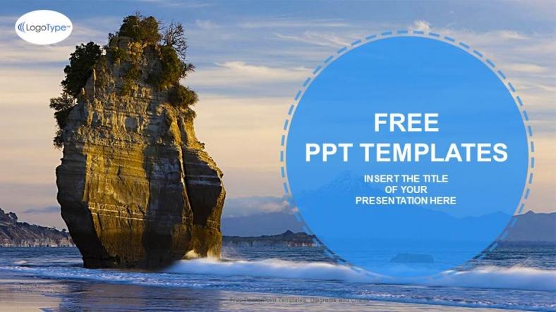 Powerpoint para presentacionesPaisajes Playa Roca