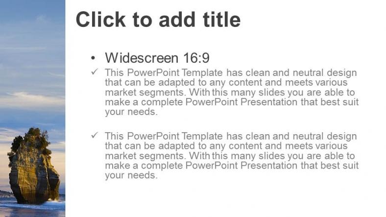Presentaciones plantilla powerpointPaisajes Playa Roca