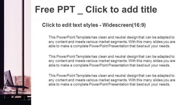 Descargar Presentaciones plantillas powerpointOrdenador portátil en la oficina