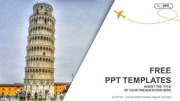 Presentaciones plantilla powerpointTorre inclinada de Pisa