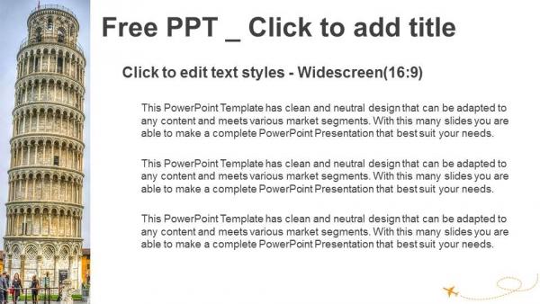 Diapositivas plantilla powerpointTorre inclinada de Pisa