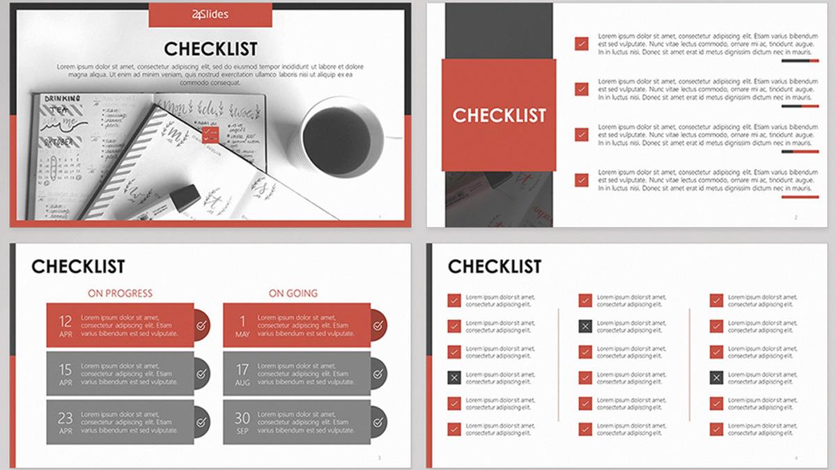Lista de verificación Plantilla de PowerPoint gratis Diapositiva 1