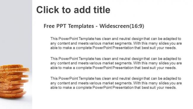 Powerpoint para presentacionesPan de molde