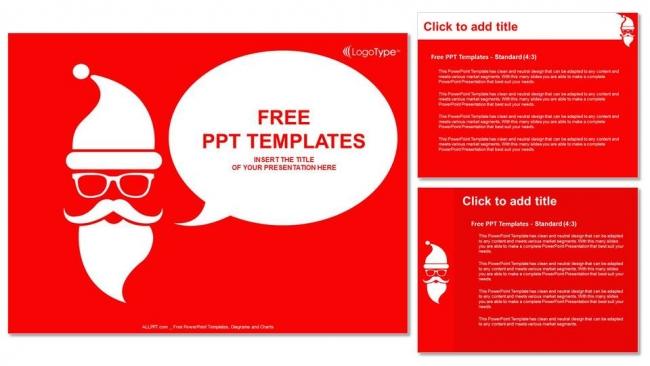 Presentaciones plantilla powerpointFeliz Navidad con Santa Claus