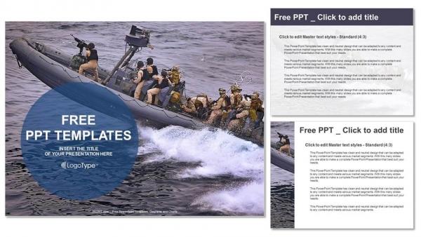 Diapositivas plantilla powerpointPatrullaje de barcos militares