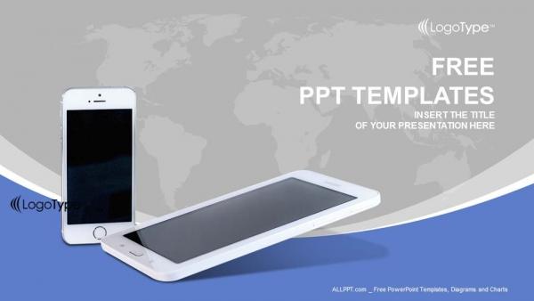 Descargar Presentaciones plantillas powerpointTeléfonos móviles con líneas