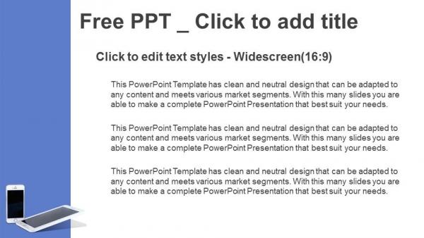 Powerpoint para presentacionesTeléfonos móviles con líneas