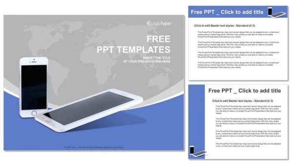 Diapositivas plantilla powerpointTeléfonos móviles con líneas