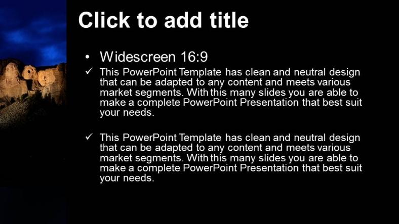 Descargar Presentaciones plantillas powerpointMonte Rushmore