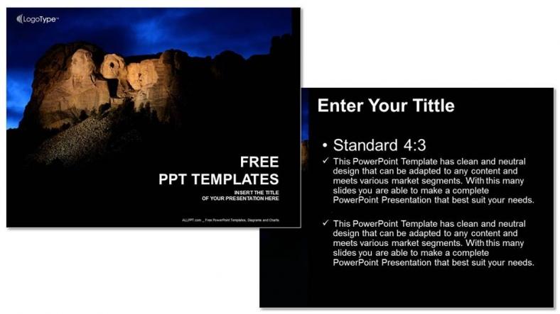 Presentaciones plantilla powerpointMonte Rushmore