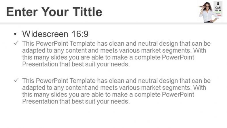 Powerpoint para presentacionesMi visión es mejor ahora