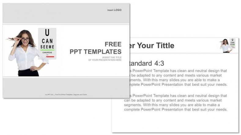 Diapositivas plantilla powerpointMi visión es mejor ahora