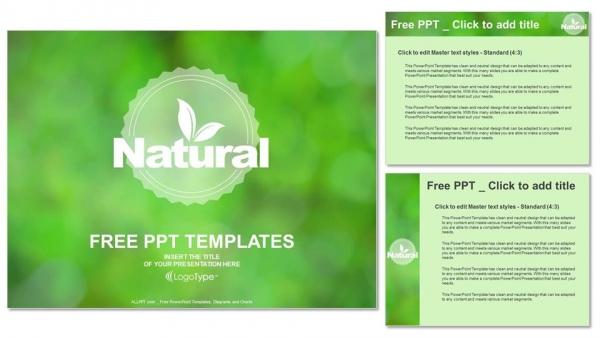 Diapositivas plantilla powerpointDiseño de logotipos de productos naturales