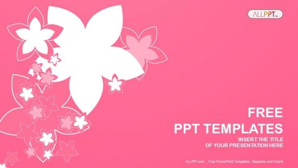 Powerpoint para presentacionesNaturaleza con flores rosas