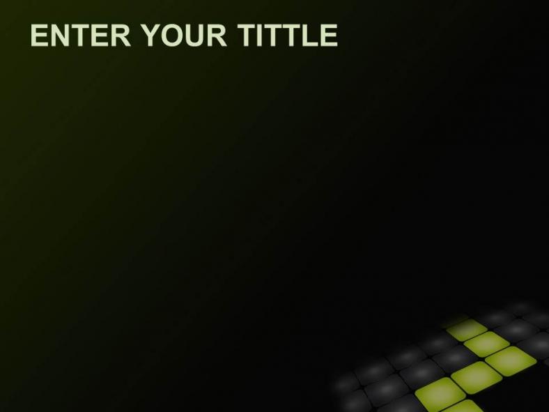 Diapositivas plantilla powerpointPaso Verde Neón