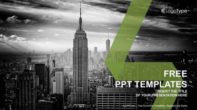 Powerpoint para presentaciones Ciudad de Nueva York Skyline